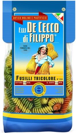 FUSILLI TRICOLORE gourmet 12x0,500