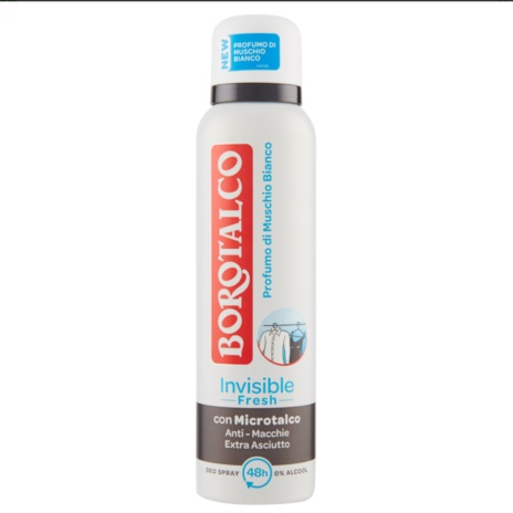 BOROTALCO DEODORANTE INVISIBILE FRESH  SPRAY ML.150
