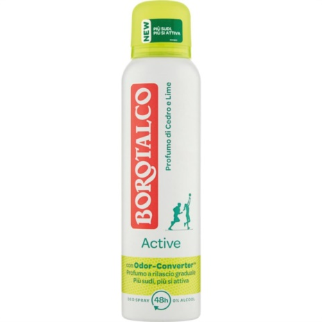 BOROTALCO DEODORANTE  ACTIVE GIALLO SPRAY   ML.150