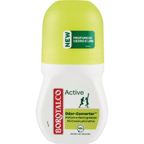 BOROTALCO DEODORANTE  ACTIVE GIALLO R-ON   ML.50